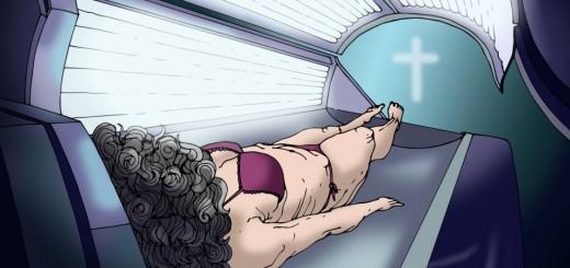 Pohřebna zaživa - ilustrace